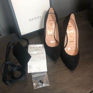 Gucci Black Suede Pumps 36.5